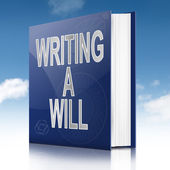 Writing a will concept. — Stock Photo