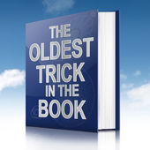 The oldest trick. — Stock Photo