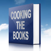 Cooking the books concept. — Stock Photo
