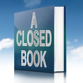 A closed book. — Stock Photo