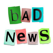 Bad news concept. — Stock Photo
