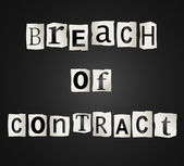 Breach of contract. — Stock Photo
