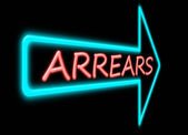 Arrears concept. — Stock Photo