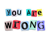 You are wrong. — Stock Photo