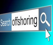 Offshoring concept. — Stock Photo