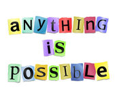 Anything is possible. — Stockfoto