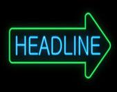 Headline concept. — Stock Photo