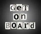 Get on board. — Stock Photo