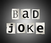 Bad joke concept. — Stock Photo