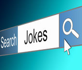 Search for jokes. — Stock Photo