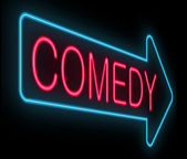 Concetto di commedia. — Foto Stock