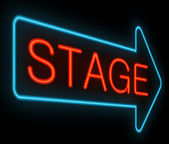 Stage sign. — Stock Photo