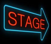 Signo de la etapa. — Foto de Stock