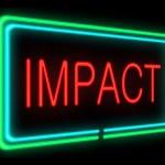 Impact concept. — Stock Photo