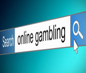 Online gambling. — Stock Photo