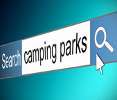 Camping park search. — Stock Photo