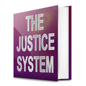 Justice system text book. — Stock Photo