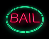 Bail sign. — Stock Photo