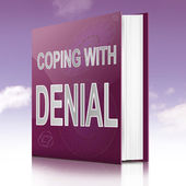 Coping with denial. — Stock Photo