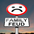 Royalty-Free Stock Photo: Family feud concept sign.