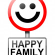 Happy family concept sign. — Photo