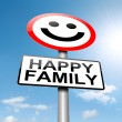 Stock Photo: Happy family concept sign.