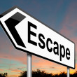 Stock Photo: Escape sign.
