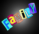 Family concept. — Stock Photo