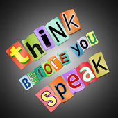 Think before you speak. — Stock Photo