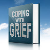 Coping with grief book. — Stock Photo