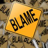 Blame concept. — Stock Photo