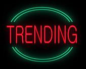 Trending concept. — Stock Photo