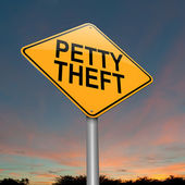 Petty theft sign. — Stock Photo