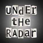 Under the radar. — Stock Photo