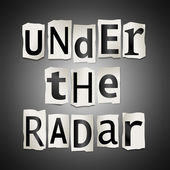 Under the radar. — Stock Photo
