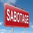Sabotage concept sign. — Stock Photo