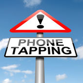 Phone tapping warning sign. — Stock Photo