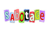 Sabotage concept. — Stock Photo