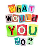 O que você faria? — Foto Stock