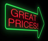 Great prices concept. — Stock Photo