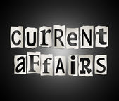 Current affairs concept. — Stock Photo