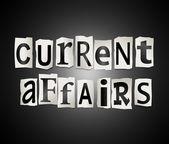 Current affairs concept. — Stock Photo