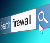 Firewall-konzept. — Stockfoto