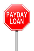 Payday loans concept. — Stock Photo