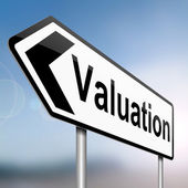 Valuation concept. — Stock Photo