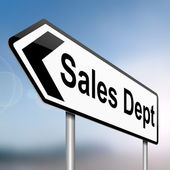 Sales dept concept. — Stock Photo