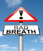 Bad breath concept. — Stock Photo
