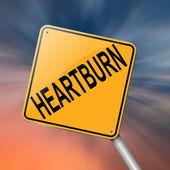 Heartburn concept. — Stock Photo