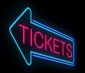 Tickets sign. — Stock Photo