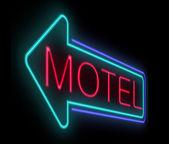 Motel sign. — Stock Photo